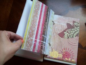 Upcycled Vintage Journal/Sketchbook by Halo and Meme